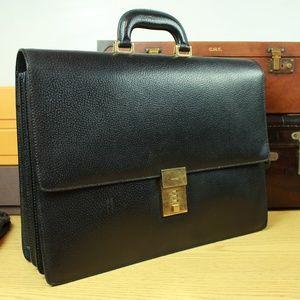 Gucci Italy Leather Briefcase Attache Bag Mens